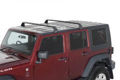 Rhino-Rack Gutter-Mount Vortex 2-Bar Roof Rack For 2007-18+ Jeep Gladiator JT & Wrangler JK/JL Unlimited 4 Door Models SG59