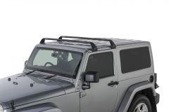 Rhino-Rack Gutter-Mount Vortex 2-Bar Roof Rack For 2007-18+ Jeep Wrangler JK & JL 2 Door Models SG60