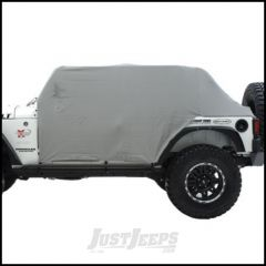 SmittyBilt Water Resist Cab Covers With Door Flap In Grey For 1992-06 Jeep Wrangler YJ & TJ 1061