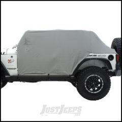SmittyBilt Water Resist Cab Covers With Door Flap In Grey For 2007-18 Jeep Wrangler JK Unlimited 4 Door 1069