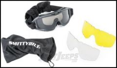 SmittyBilt Protective Trail Goggles With 3 Interchangeable Lenses & Carrying Case 1504