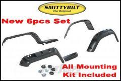 """SmittyBilt Pocket Style Fender Flares 6"""" For 1987-95 Jeep Wrangler YJ 17191"""