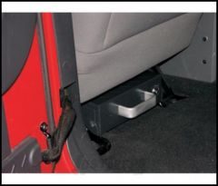 SmittyBilt Secure Lock Box With Mounting Sleeve In Black Made Of Heavy Duty Steel 2746