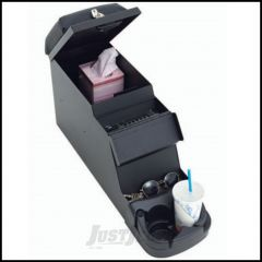 SmittyBilt Security Stereo Floor Console 16 Guage Steel In Black Denim For 1976-95 Jeep CJ Series & Wrangler YJ 31815