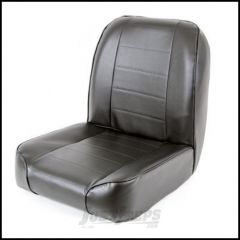 SmittyBilt Front Low Back Seat In Black Vinyl For 1955-75 Jeep CJ Series 44801