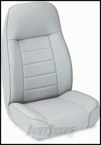 SmittyBilt Front Standard Bucket Seat In Grey Denim For 1976+ Jeep CJ Series, Wrangler YJ & TJ Models 44911