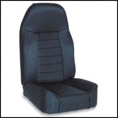SmittyBilt Front Standard Bucket Seat In Black Denim For 1976+ Jeep CJ Series, Wrangler YJ & TJ Models 44915