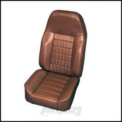 SmittyBilt Front Standard Bucket Seat In Spice Denim For 1976+ Jeep CJ Series, Wrangler YJ & TJ Models 44917