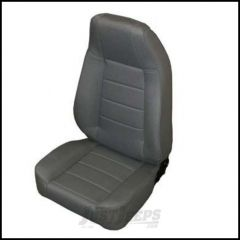 SmittyBilt Front Factory Style Reclining Seat In Grey Denim For 1976+ Jeep CJ Series, Wrangler YJ & TJ Models 45011