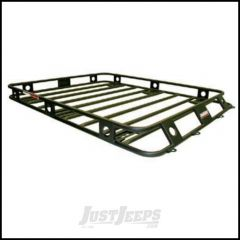 SmittyBilt Defender Series Roof Rack Basket 4.5' X 6.5' One Piece Welded 45654