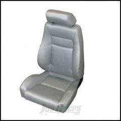 SmittyBilt Front Contour Sport Reclining Seat With Headrest In Grey Denim For 1976+ Jeep CJ Series, Wrangler YJ & TJ Models 49511