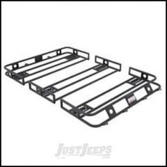 SmittyBilt Defender Series Roof Rack Basket 5' X 9.5' With Rain Gutter Mount Multi Piece Bolt Together 50955HD