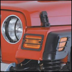 SmittyBilt Euro Head Light Covers In Black For 1997-06 Jeep Wrangler TJ & Wrangler Unlimited 5660