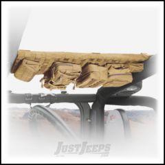 SmittyBilt GEAR Overhead Console In Tan For 2007-18 Jeep Wrangler JK 2 Door & Unlimited 4 Door Models 5666024