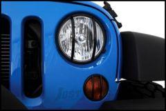 SmittyBilt (Black) Euro Turn Signal Guards For 2007-18 Jeep Wrangler JK 2 Door & Unlimted 4 Door Models 5690