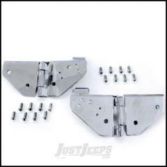 SmittyBilt Windshield Hinges In Stainless Steel For 1976-95 Jeep Wrangler YJ and CJ Series 7403