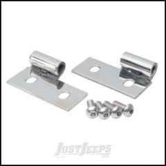 SmittyBilt Door Hinge Lower Brackets In Stainless Steel For 1976-06 Jeep Wrangler YJ, TJ & CJ Series 7407