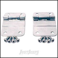 SmittyBilt Lower Tailgate Hinge Kit In Stainless Steel For 1976-86 Jeep CJ Series 7419