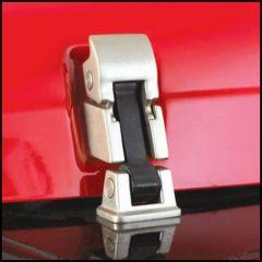 SmittyBilt Hood Catch Kits In Stainless Steel For 1997-06 Jeep Wrangler TJ & Wrangler Unlimited 74334