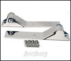 SmittyBilt Tailgate Hinge In Stainless Steel For 1987-95 Jeep Wrangler YJ 7442