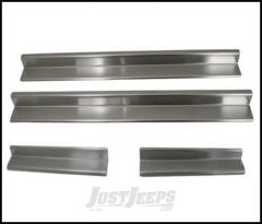 SmittyBilt Entry Guards In Stainless Steel For 2007+ Jeep Wrangler JK & JK Unlimited Models 7488