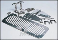 SmittyBilt Complete Hood Kit In Stainless Steel For 1978-95 Jeep Wrangler YJ & CJ Series 7499