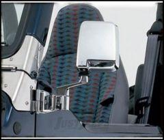 SmittyBilt Half Door Side Mirror In Chrome For 1987-06 Jeep Wrangler YJ & TJ Models 7504