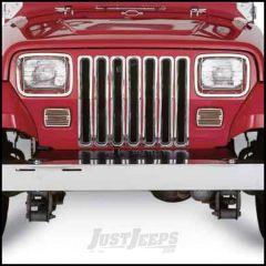 SmittyBilt Grille Insert In Chrome For 1987-95 Jeep Wrangler YJ 7509