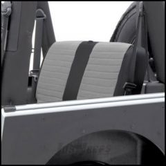 SmittyBilt XRC Rear Seat Cover In Grey On Black For 1980-95 Jeep Wrangler YJ & CJ Series 755111