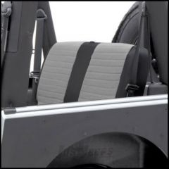 SmittyBilt XRC Rear Seat Cover In Grey On Black For 1997-02 Jeep Wrangler TJ 756111