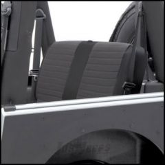 SmittyBilt XRC Rear Seat Cover In Black On Black For 1997-02 Jeep Wrangler TJ 756115