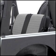 SmittyBilt XRC Rear Seat Cover In Grey On Black For 2007+ Jeep Wrangler JK 2-Door 759111