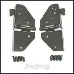 SmittyBilt Windshield Hinges In Black For 1976-95 Jeep Wrangler YJ and CJ Series 7603