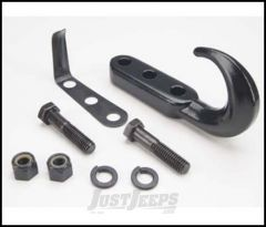 SmittyBilt Tow Hook Kit In Black For 1942-95 Jeep CJ Series & Wrangler YJ 7605