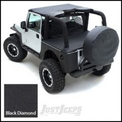 SmittyBilt Tonneau Cover For Use Without Factory Soft Top Bow In Black Diamond For 1997-06 Jeep Wrangler TJ 761035