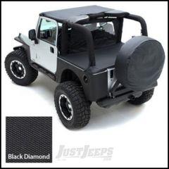 SmittyBilt Tonneau Cover In Black Diamond For 2007-18 Jeep Wrangler JK 2 Door 761235