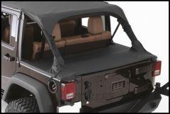 SmittyBilt Tonneau Cover In Black Diamond For 2007+ Jeep Wrangler JK Unlimited 4 Door 761335