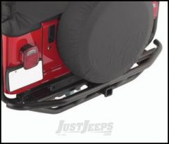 SmittyBilt SRC Rear Bumper With Hitch In Black Textured For 1987-06 Jeep Wrangler YJ & TJ Models 76611