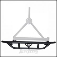 SmittyBilt SRC Rear Bumper With Hitch & Tire Carrier Post Only In Black Textured For 1987-06 Jeep Wrangler YJ & TJ Models 76621-01