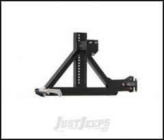 SmittyBilt XRC Rear Tire Carrier Only In Black Textured For 1987-06 Jeep Wrangler YJ & TJ Models 76654