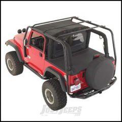 SmittyBilt SRC Roof Rack In Black Textured For 1997-06 Jeep Wrangler TJ 76713