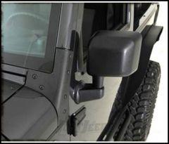 SmittyBilt Windshield Brackets In Black For 2007-18 Jeep Wrangler JK 2 Door & Unlimited 4 Door Models