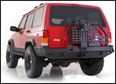 SmittyBilt XRC Rear Bumper With Swing Out Tire Carrier & Hitch For 1984-01 Jeep Cherokee XJ 76851