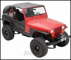 SmittyBilt XRC Rock Sliders In Black Textured For 1987-95 Jeep Wrangler YJ 76860