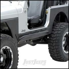 SmittyBilt XRC Rock Sliders With Step  In Black Textured For 2004-06 Jeep Wrangler TLJ Unlimited 76868