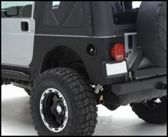 SmittyBilt XRC Armor Rear Corner Guards Without Flare In Black Textured For 1997-06 Jeep Wrangler TJ 76874
