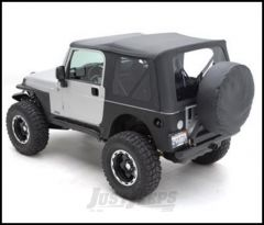 SmittyBilt XRC Armor Rear Corner Guards Without Flare In Black Textured For 1976-86 Jeep CJ7 76878