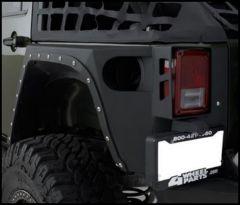 SmittyBilt XRC Armor Rear Corner Guards Pair For 2007-18 Jeep Wrangler JK Unlimited 4 Door Models 76882