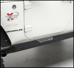 SmittyBilt XRC Rock Sliders with Step in Light Texture For 2007-18 Jeep Wrangler JK 2 Door Models 76897LT
