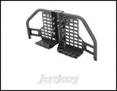 SmittyBilt XRC Rear Atlas Tire Carrier Only In Black Textured For 2007-18 Jeep Wrangler JK 2 Door & Unlimited 4 Door Models 76896-02